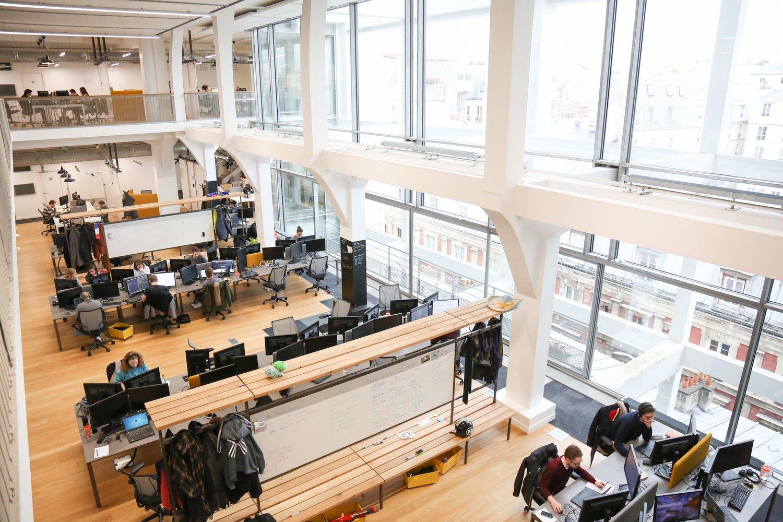 Les bureaux de Leboncoin, leader de l'économie collaborative