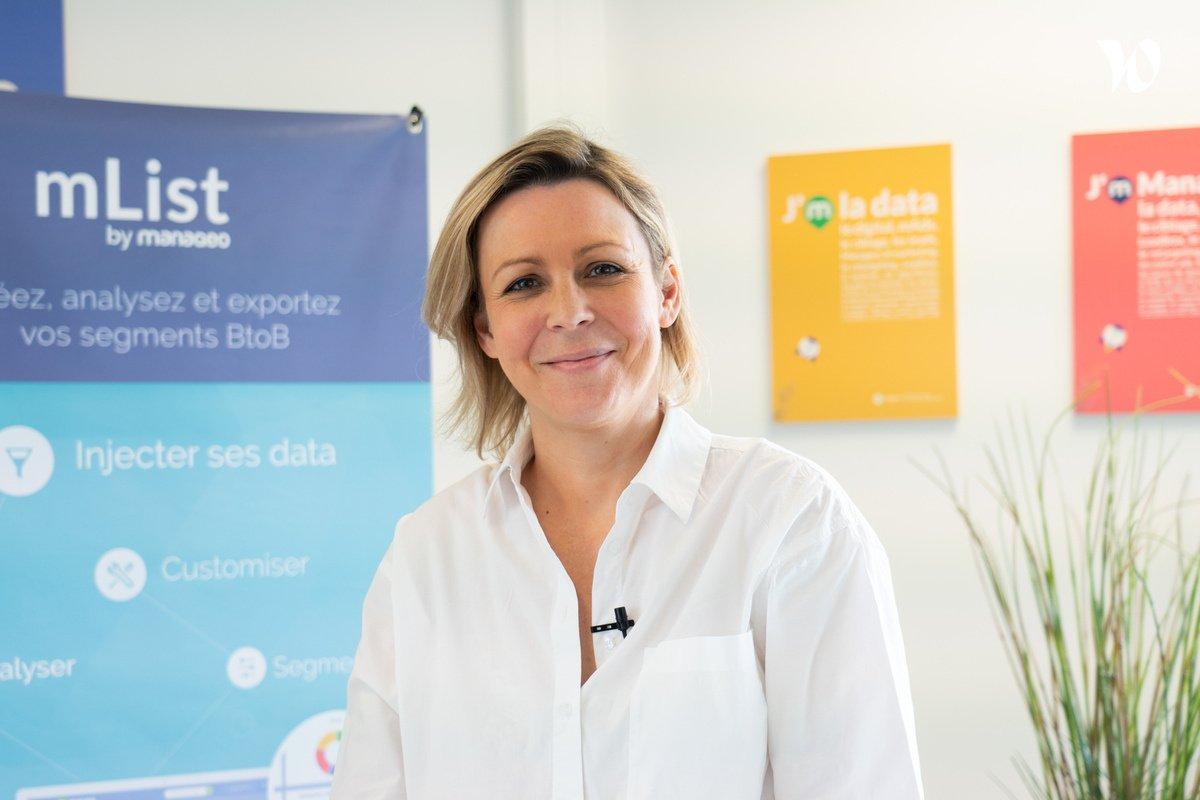 Rencontrez Clémence, Directrice e marketing & communication - Manageo