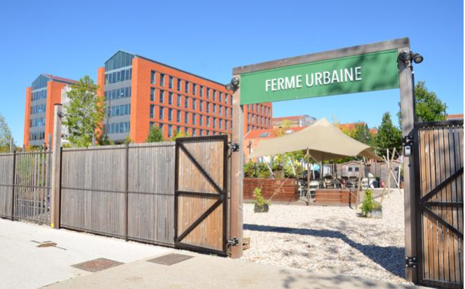 Ferme urbaine destinée aux salariés du Parc