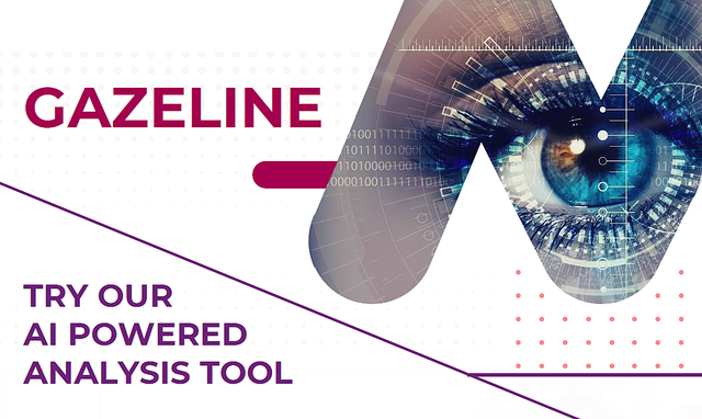 Gazeline, an innovative tool analyzing with the gaze people reactions - Mantu