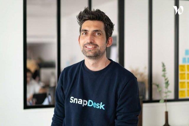 Rencontrez Ronan, Co-fondateur & CEO - SnapDesk