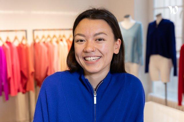 Rencontrez Adèle, Social media manager - absolut cashmere