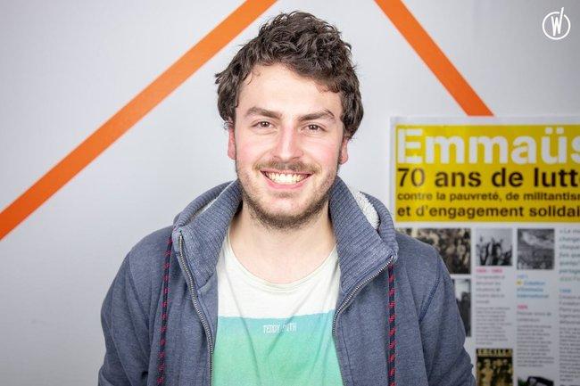 Rencontrez Grégoire, Stagiaire tech - Label Emmaus