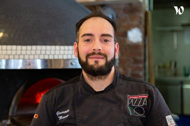 Rencontrez Giuseppe, Pizzaiolo Popine - Groupe les As
