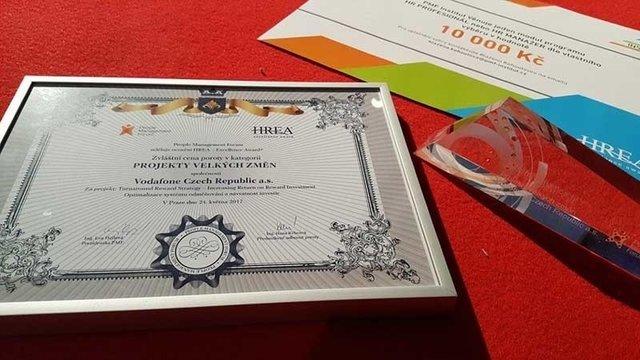 Vodafone získal cenu poroty na HR Excellence Award! - Vodafone