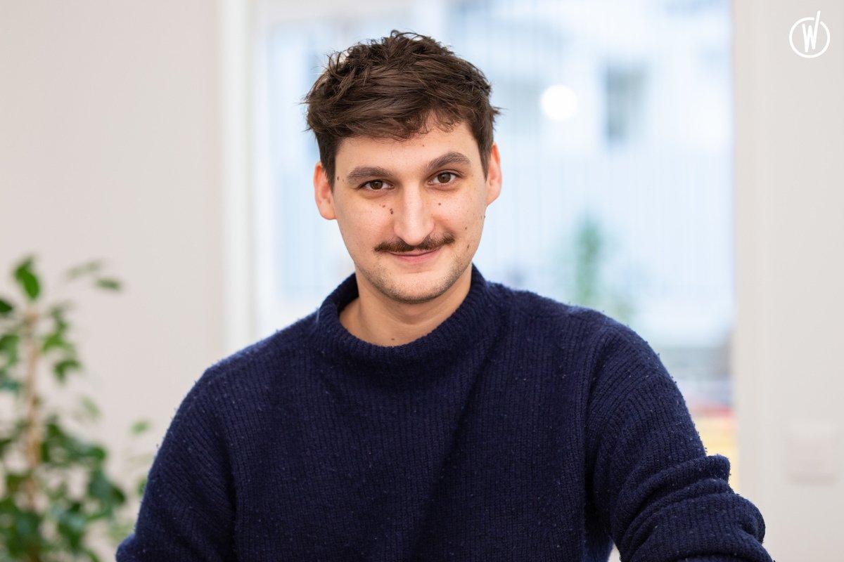 Rencontrez Benjamin, Product Owner - Admo tv