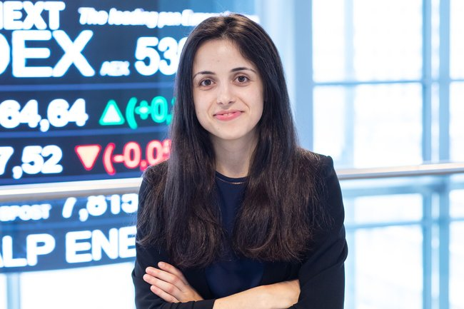 Rencontrez Flavia, Business Analyst - Euronext
