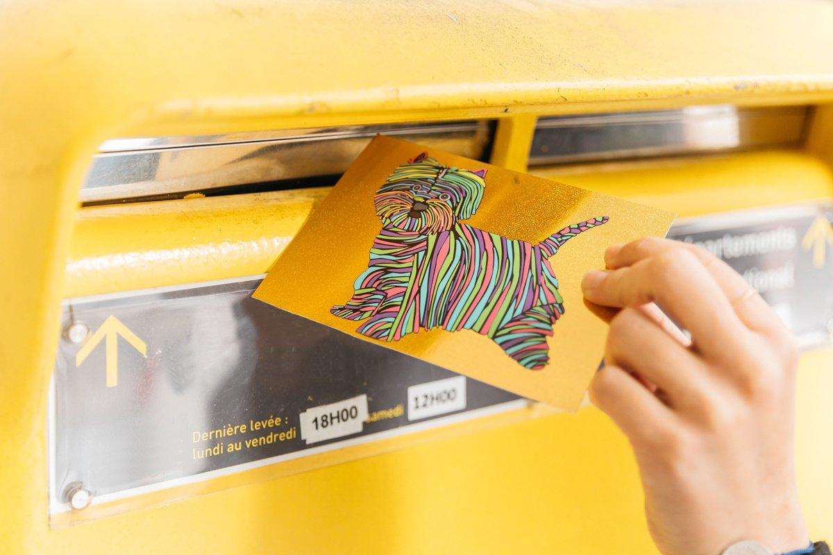 6 cartes postales que vous pourriez recevoir au bureau